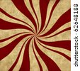 Peppermint Swirl Design on a Retro Background. - stock photo