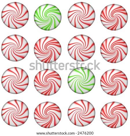 Peppermints - stock photo