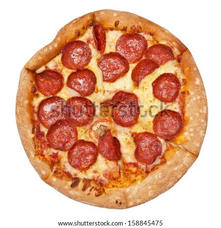pepperoni is a popular pizza - stock photo