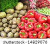 Peppers and spuds - stock photo