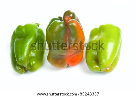 Peppers family isolated on white background