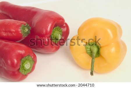 Peppers - Italian and Yellow - stock photo