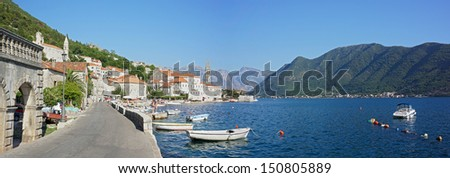 Perast town - Kotor bay - stock photo