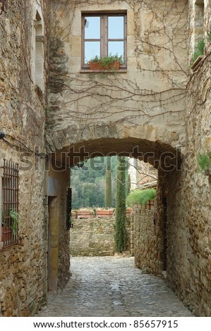 Peratallada is a little stone town in Girona Catalonia Spain