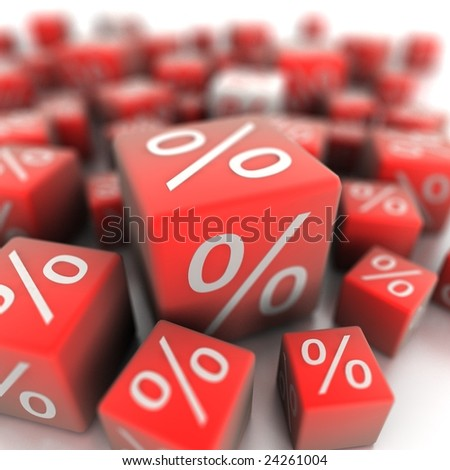 Percent - stock photo