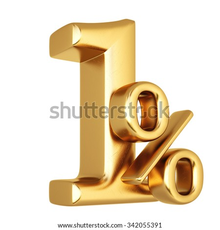 percent discount from gold. isolated on white background.