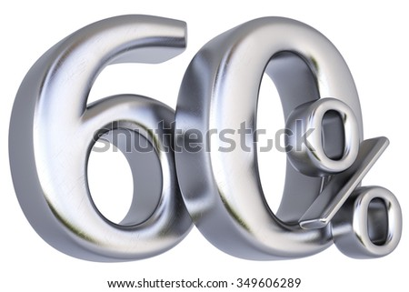 percent discount from silver. isolated on white background. - stock photo