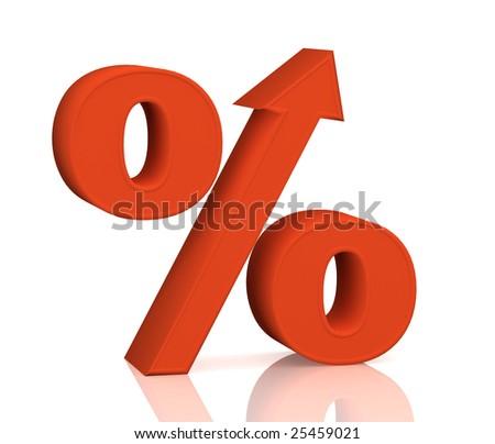 Percent growth - stock photo