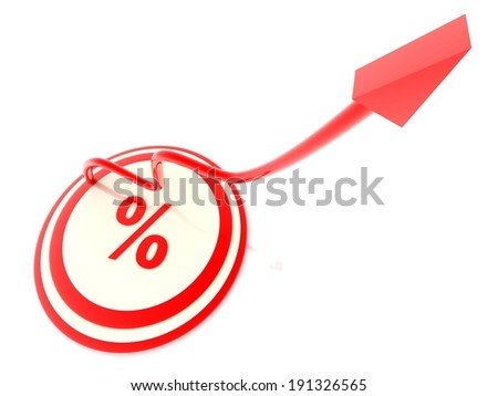 percent growth concept - stock photo
