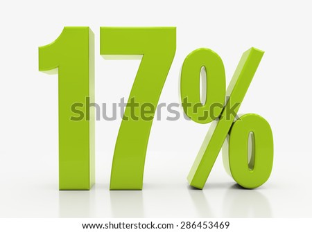 Percent off. Discount. 3D illustration - stock photo