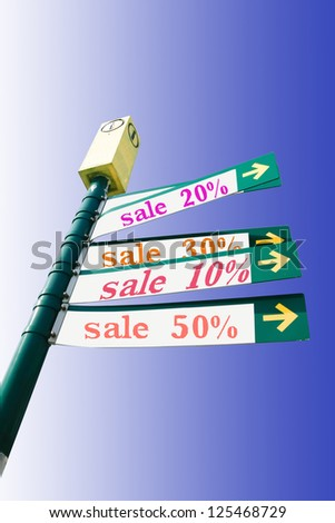 percent off sale arrows showing direction.