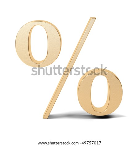 Percent symbol on white background.