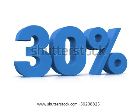 Percentage, 30% - stock photo