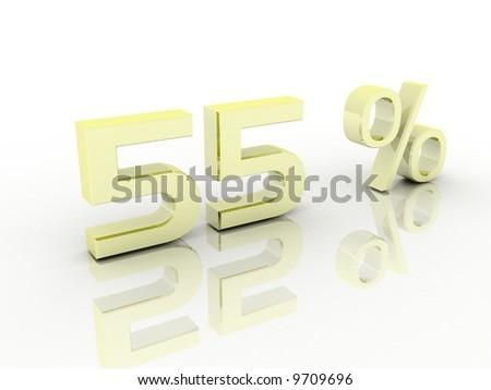 Percentage - stock photo