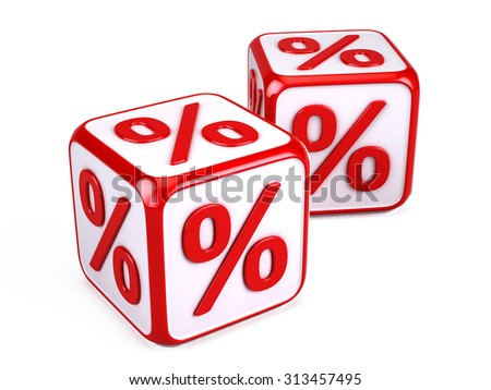 Percentage concept - stock photo