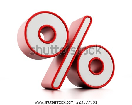 Percentage sign isolated on white.
