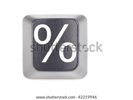 percentage symbol keyboard button macro - stock photo