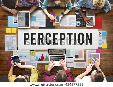 Perception Insight Awareness Seeing Vision Brain Concept - stock photo
