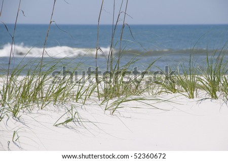 PERDIDO KEY - MAY 4: Tourism and wildlife are threatened as the Gulf oil spill approaches Florida. Pristine as seen on May 4, 2010, the slick is expected to impact the popular area within two days. - stock photo