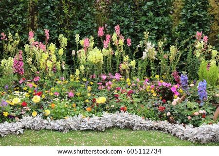 Perennial garden flower bed spring flower stock photo safe to use perennial garden flower bed spring flower stock photo safe to use 605112734 shutterstock mightylinksfo Image collections