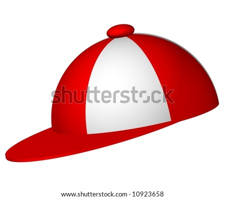 Perfect baseball cap isolated on white - stock photo