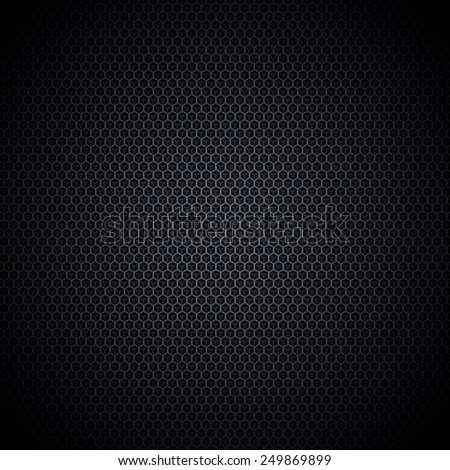 Perfect black texture with overlapping hexagon objects. High quality and resolution