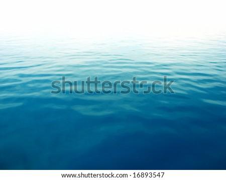 Perfect blue sea - stock photo