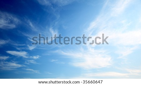 perfect blue sky - stock photo