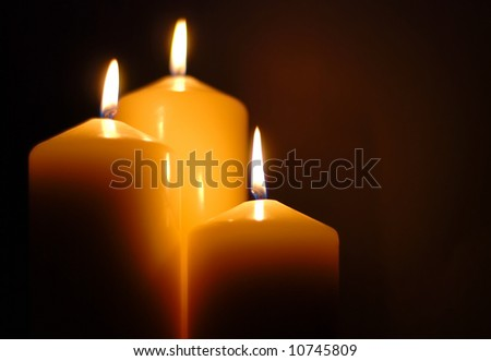 perfect candlelight - stock photo
