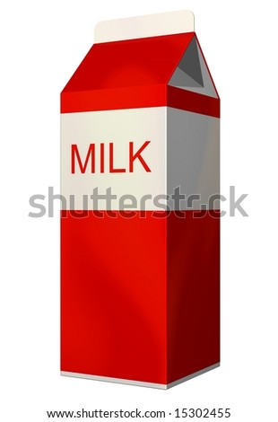 Perfect carton of milk isolated on white - stock photo
