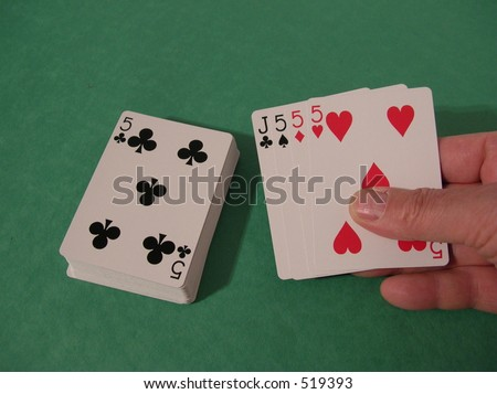 perfect cribbage hand - stock photo