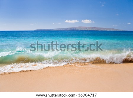 perfect day at tropical beach in hawaii