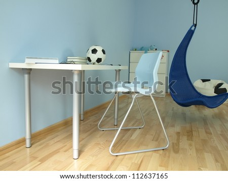 Perfect design furniture for young boy's room - stock photo