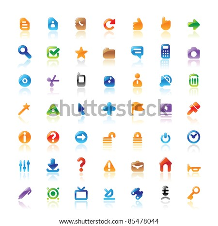 Perfect designer icons for computer interface. Raster version. Vector version is also available. - stock photo