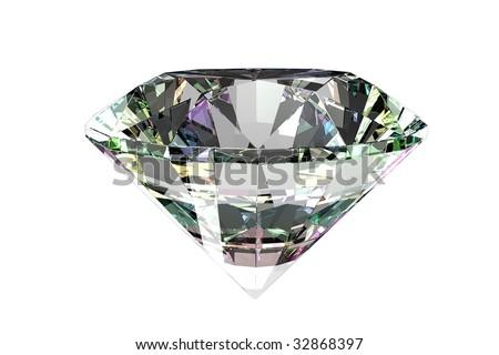 Perfect diamond - stock photo