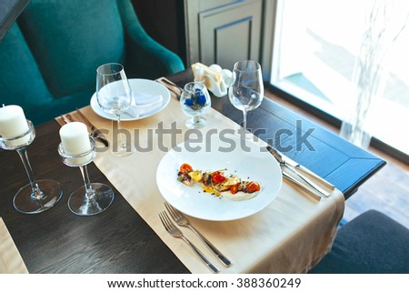 Perfect dish on the table - stock photo