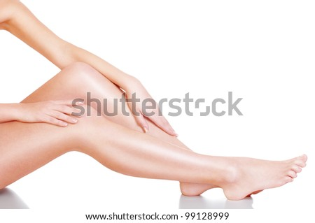 perfect female body - stock photo