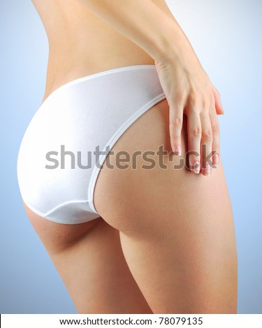 Perfect female body isolated - stock photo