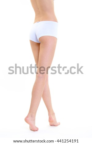 perfect female legs body care concept