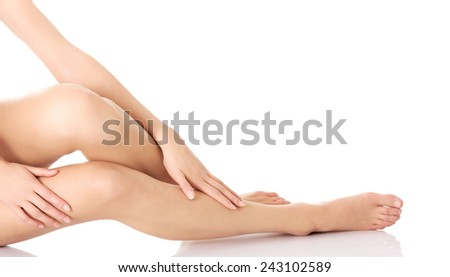 Perfect female legs with clean and smoth skin