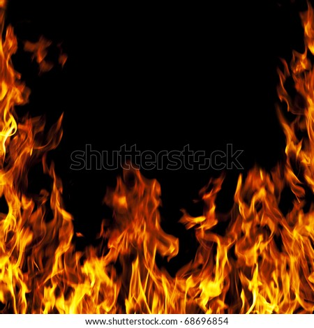 perfect fire background - stock photo