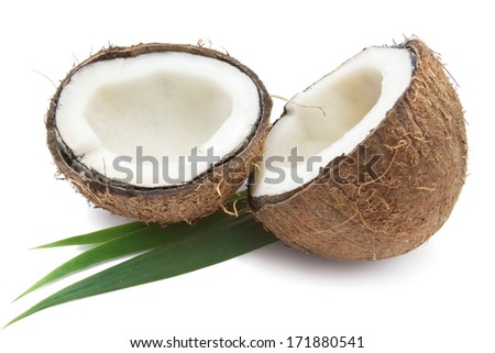 Perfect fresh coconut isolated on white background