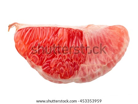 Perfect Fresh Grapefruit Isolated on White Background in Full Depth of Field with Clipping Path.