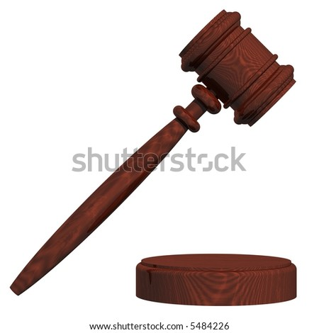 perfect gavel isolated on white