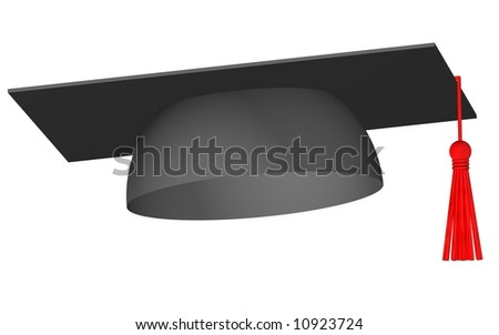 Perfect graduation cap isolated on white