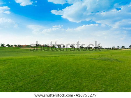 Perfect Grass Area  - stock photo
