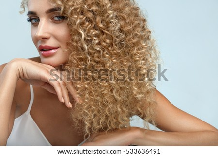 Sexy long curly hair