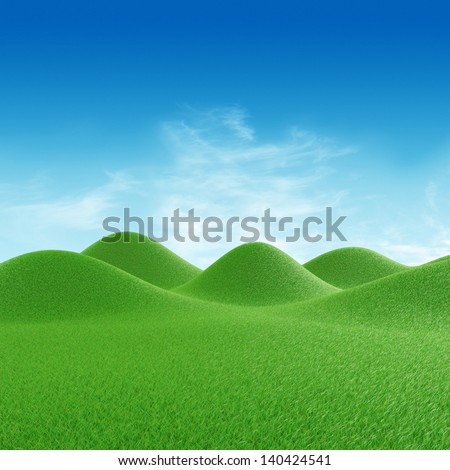 Perfect hills - stock photo
