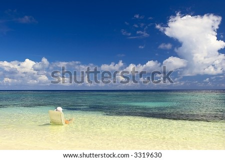 Perfect holiday on the coast of the Indian Ocean, Maldives - stock photo