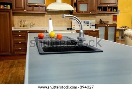 perfect kitchen - stock photo